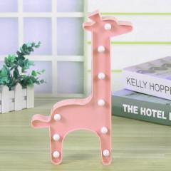 """Светодиодный ночник """"Жираф"""" - розовый"""