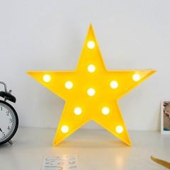 """Светодиодный ночник """"Звезда"""" - желтая 27 см"""