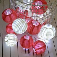 "Гирлянда ""Небесные фонарики"" красная+белая 10 ламп 1,5 м"