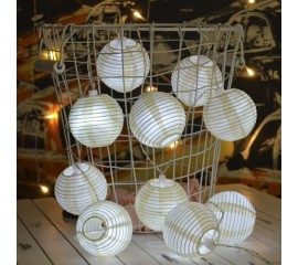 """Гирлянда """"Небесные фонарики"""" белая 10 ламп 1,5 м"""