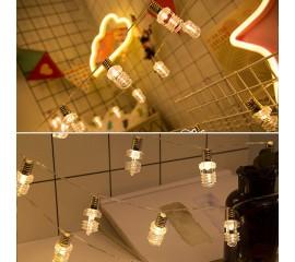 "Гирлянда ""Лампочки экономки"" теплый-белый 20 ламп 3 м - USB"