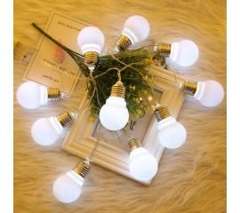 """Led гирлянда """"Лампочки с цоколем"""" 1,5 м 10 ламп - холодный белый"""