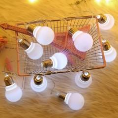 """Led гирлянда """"Лампочки с цоколем"""" 3 м 20 ламп холодный-белый"""