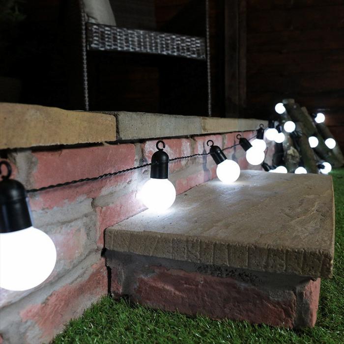 Гирлянда с лампочками 20 л., 6,5 м. матовые