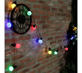 Гирлянда с лампочками 20 л., 6,5 м. цветная