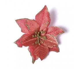 Головка пуансетия красная 12 см