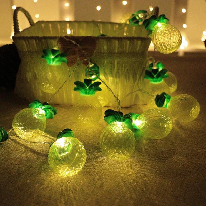 """LED гирлянда """"Ананас"""" пластик 20 ламп 3 м"""