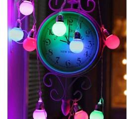 """Led гирлянда """"Лампочки матовые 4,5 см"""" 20 ламп 3 м цветная"""