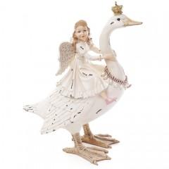 """Фигурка """"Лебедь с девочкой"""" 30 см"""