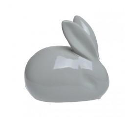Заяц керамический серый