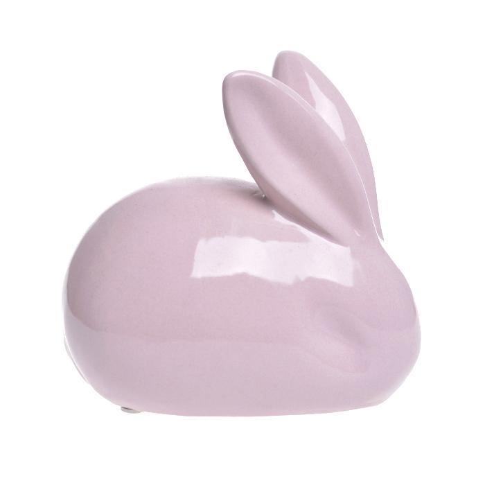 Заяц керамический розовый