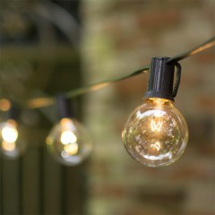 Гирлянда с лампочками G40  7,5 м, 25 л. черный шнур