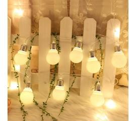 "Led гирлянда ""Лампочки с цоколем"" 3 м 20 ламп теплый-белый USB"