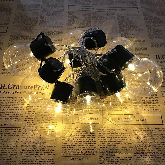 """Гирлянда """"Лампочки прозрачные"""" 2,6 м 10 ламп, на батарейках"""
