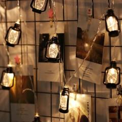 "Led гирлянда ""Керосиновые лампы"" черная 1 м 10 ламп"