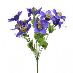 Букет мальва 18 к-а фиолет