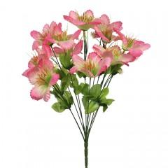 Букет мальва 18 к-а розовая