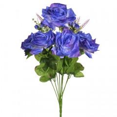 Роза атласная 62 см фиолет