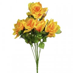 Роза атласная 62 см желтая