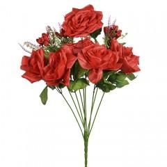 Роза атласная 62 см красная