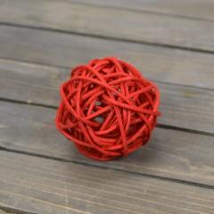 Шар ротанговый красный 5 см