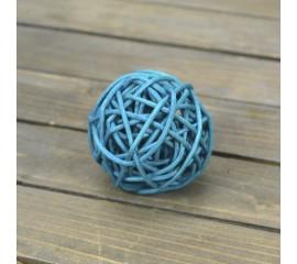 Куля ротангова блакитний 5 см