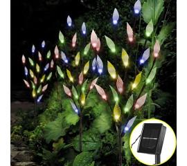 Набор из 3-х солнечных светодиодных кустов цветной