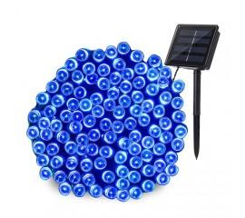 """Солнечная гирлянда """"стринг"""" 100 ламп 12 м синий, 8 режимов"""