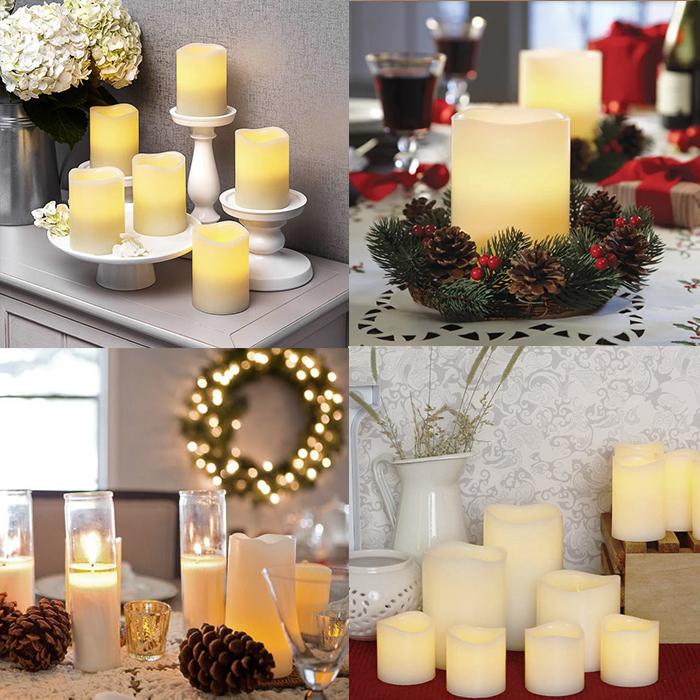 Набор светодиодных свечей, с пультом ДУ