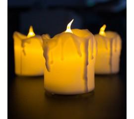 """Светодиодная  свеча """"С потеками"""" 4,6 см"""