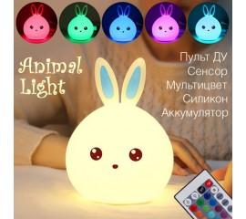 """Ночник """"Кролик - синий"""" с д/у"""