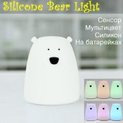 """Ночник силиконовый """"Медведь белый маленький"""""""