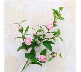 Ветка камелия розовая 90 см