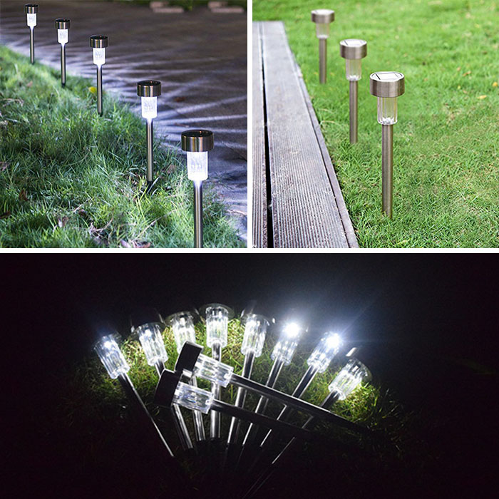 Газонный светильник на солнечной батарее