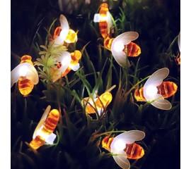 """Led гирлянда """"Пчелки"""" 10 ламп 1,5 м белый"""