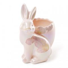 """Подставка для яйца """"Зайчик розовый"""" 14 см"""