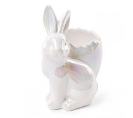 """Подставка для яйца """"Зайчик белый"""" 14 см"""