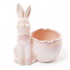 """Подставка для яйца """"Зайчик розовый"""" 13 см"""