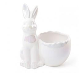 """Подставка для яйца """"Зайчик белый"""" 13 см"""