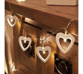 "LED гирлянда ""Деревянные сердца"" 20 ламп 3 м"