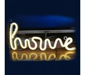 """Настенный LED декор """"HOME"""", батарейки/USB"""