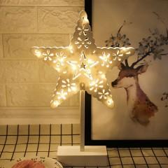 LED звезда ажурная на подставке 40см