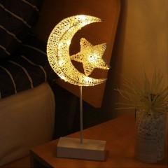 "LED ""Луна о звездой"" -ротанг на подставке 40см"