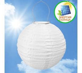 Солнечный небесный фонарик, 30 см, белый