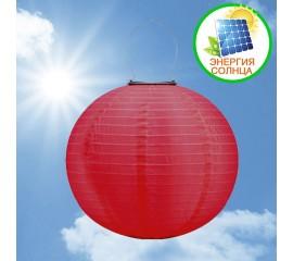 Солнечный небесный фонарик, 30 см, красный