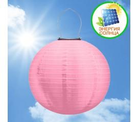 Солнечный небесный фонарик, 30 см, розовый