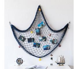 Декоративная сетка 100х200 см - синяя