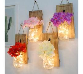 Настенная LED композиция с  нежно-розовым цветком