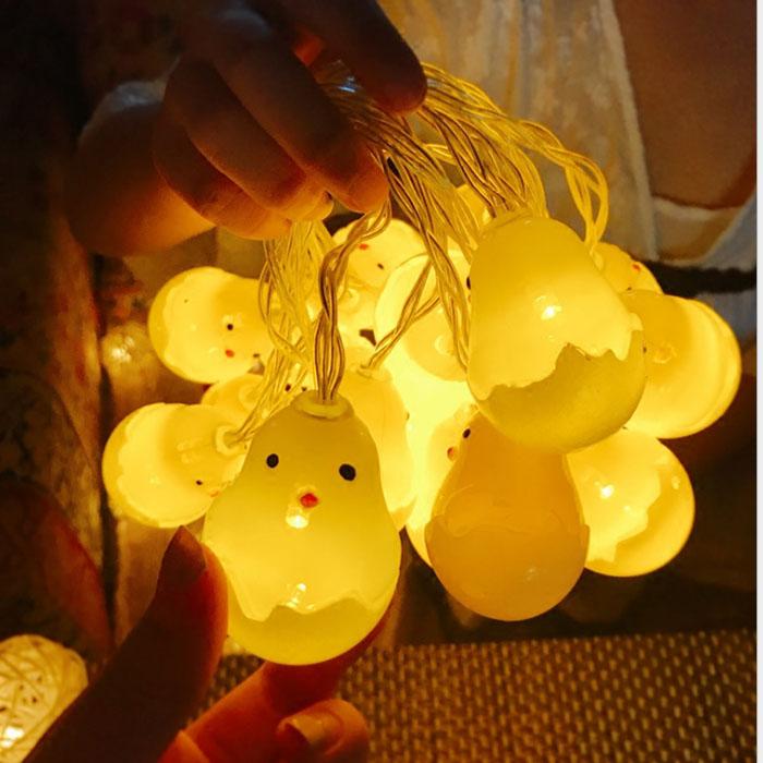 "LED гирлянда ""Цыпленок в скорлупе"" 20 ламп 3 м"
