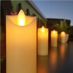 LED свеча с реалистичным эффектом огонька, кремовая 11 см